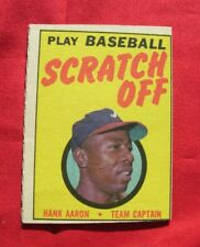 1970-71 TOPPS HANK AARON UNSCRATCHED BASEBALL CARD