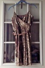 Express Women's Dress Size M Sleeveless Sequin Embellished Cocktail Dress Ruched