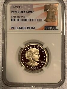 1999 P SBA, NGC Certified Pf 70 Philadelphia Label