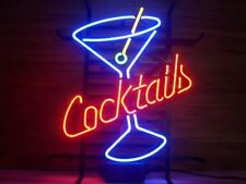 "New Cocktails Martini Cup Neon Sign Beer Bar Pub Gift Light 17""x14"""