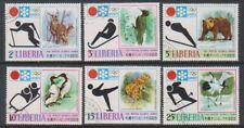 Liberia - 1971, Winter Olympic Games (Animals / Birds) set - CTO - SG 1090/5 (f)