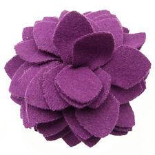 Pince à cheveux bibi broche fleur feutrine soirée cérémonie mariage violet