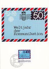 (41448) Liechtenstein Maxicard Postcard Cover International Campaigns 1983