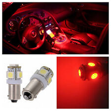 10x Red T11 BA9s LED 5SMD LIcense Plate Light Bulb Dome Map Lamp 57 64111 53 H6W