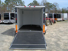 7x12' enclosed cargo trailer Finished interior harley davidson decal 14' inside