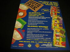 SOUTH PARK Join In The Sick Twisted Fun 1998 PROMO POSTER AD mint condition