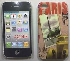 COVER CUSTODIA RIGIDA APPLE IPHONE 4- 4S CARTOLINA FRANCE PARIS TOUR EIFFEL