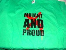 Fun Marvel Comics X-Men MUTANT AND PROUD Fruit of the Loom T-Shirt 2XL Brand NEW