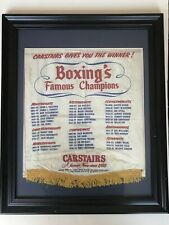 Carstairs Whiskey 'Boxing's Famous Champions' Vintage 50's Framed Advertisement