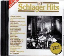50 Schlager Hits Gunter Gabriel, Manfred Krug, Mike Fender, Gillan Scal.. [2 CD]