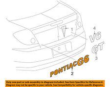 Pontiac GM OEM 06-10 G6 Trunk Lid-Emblem Badge Nameplate 15290127