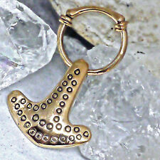 Replikat Fund Halland Thorshammer Bronze Viking Anhänger Thorhammer Lederschnur
