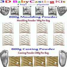 3D Baby Casting Kit 800gMoulding+800gCasting Hands&feet+4bags silver pigment