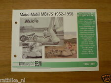 MVE54- MAICO MOBIL MB175 1952-58  MINI POSTER AND INFO MOTORCYCLE,MOTORRAD
