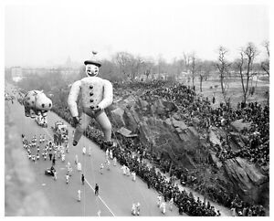 1926 Clown Balloon at Macy's Thanksgiving  Parade 8  x 10  Photograph