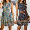 Fashion Women Summer Boho Short Maxi Dress Evening Party Beach Cocktail Sundress