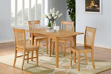 East West Furniture 5pc Norfolk kitchen dinette dining set table + 4 chairs oak