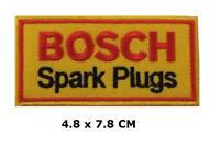Bosch Bujías Motor Motero Carreras con Plancha Parche Bordado Camiseta Insignia