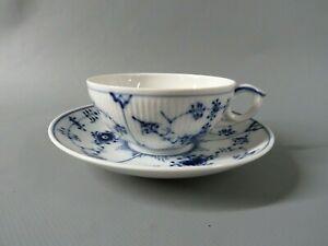 Royal Copenhagen Musselmalet gerippt -  Teetasse mit Untertasse