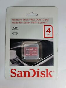 4GB Memory Stick Pro Duo Card SanDisk Made for Sony PSP