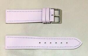 Pulsera Correa de Reloj Piel Legítima Cuero 20 mm Lila   Watchband 240