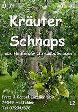 Kräuterschnaps Anis 40 % Obstbrand 5x 0,7l  Angesetzter