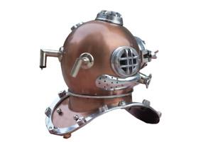 "Coppe Antique Scuba SCA Marine Diving Divers Helmet US Navy Mark V Full Size 18"""