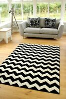 New Modern Black White Good Quality Small Large Size Floor Carpets Rugs Runners