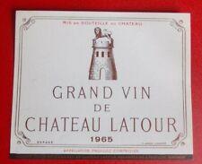 Etiquette  CHATEAU  LATOUR 1965
