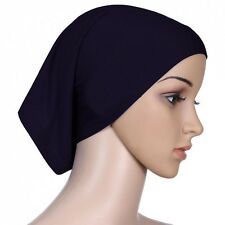 Muslim Women Soft Under Scarf Inner Cap Bone Bonnet Neck Cover Hijab Cap Wrap