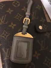 ORG. Prada Taschenanhänger, Adressanhänger TAUPE Leder / gold TOP zur Tasche %%