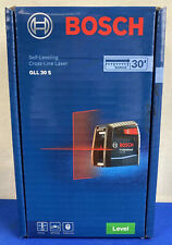 Bosch Gll 30 S Self Leveling Cross Line Laser Level With Range Of 30 Feet New