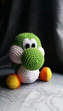 "Handmade Amigurumi Crochet Yoshi nintendo plush 8"" video game mario brothers"