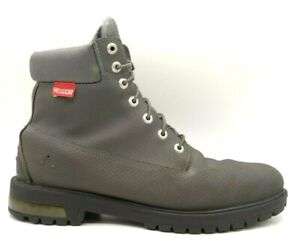 Timberland Helcor Gray Leather Lace Up Ankle Boots Shoes Men's 13 M