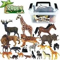 Toy Animals Play Set Mini Animal Figures Jungle Wildlife Animals Toys Set