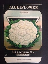 1930-40s Litho Antique Vintage Seed Packets Cauliflower Card Seed Co Packs Mint