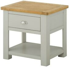 Windermere Elephants Breath Grey Painted Lamp Table / End Table