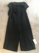 Coast Women's Lissa Black Strapless Ruffles Jumpsuit Never Been Worn Size 16