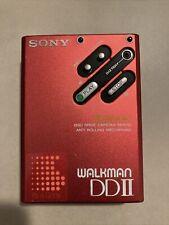 Sony walkman dd ii, Rot, regelm. Klacken, wenig Gebrauchsspuren + Tasche