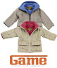 Childrens Tweed Coat for Ages 2-13 Years Fleece Lining Winter Jacket Girls Boys