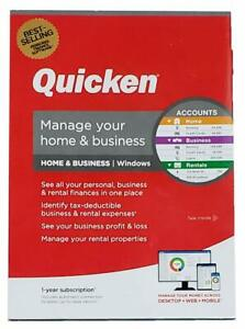 QUICKEN HOME & BUSINESS 2020 1 YEAR MEMBERSHIP FOR WINDOWS W/ DISK - NEW IN BOX