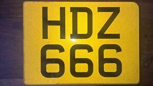 HDZ 666 cherished personal Registration Plate on Retention
