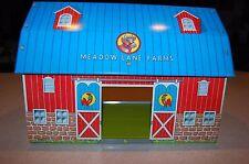 VINTAGE OHIO ARTS MEADOW LANE FARMS METAL BARN TOY FARM KID CHILD PLAYSET NICE!!