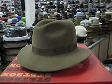 STETSON TAUPE OUTBACK STYLE SOFT FUR FELT FEDORA HAT