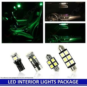 GREEN Interior LED Lights Package for 2003-2011 Mercury Grand Marquis