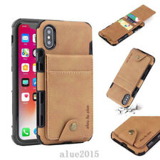 For iPhone XS Max XR 7 8 Moto Canva Card Slot Leather Fashion Wallet Case Cover