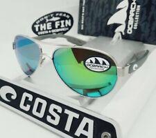 """COSTA DEL MAR silver/green mirror LORETO """"OCEARCH"""" POLARIZED 580P sunglasses NEW"""