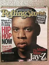 """JAY-Z SIGNED IN PERSON POSTER 22""""x26"""" rolling stone magazine poster rap BEYONCÉ"""