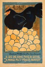 """""""I am a War Hen""""! Vintage Style French 1917 WWI Poster - 16x24"""