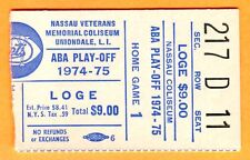 SCARCE ABA BASKETBALL PLAYOFF TICKET STUB-4/6/75 NY NETS/SPIRITS OF ST. LOUIS